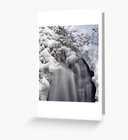 Ice Falls Greeting Card