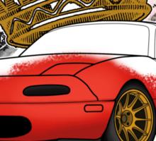 King of Corners - Mazda Miata Sticker