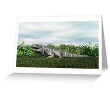 Rhinoceros Iguana Greeting Card