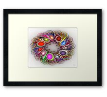 'Light Flame Abstract 302' Framed Print