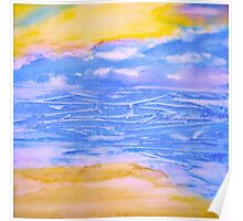 Atmospheric Layers with Beach Poster