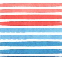 Summer Stripe - Nautical, classic, blue, red, pink, trendy cell phone case by charlottewinter