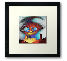 Burning eye of London Framed Print