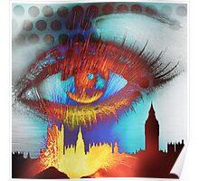 Burning eye of London Poster