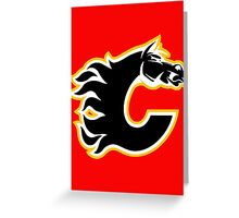 Calgary Flames - On Fire! Greeting Card