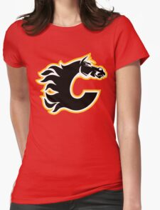 Calgary Flames - On Fire! Womens Fitted T-Shirt