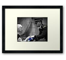 Courtesy Red White And Blue Framed Print