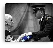 Courtesy Red White And Blue Canvas Print