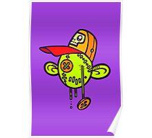 Zombie Trucker Doll Head Poster