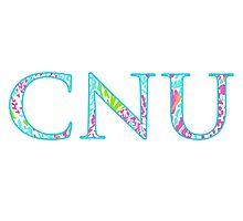 Christopher Newport University Letters (Let's Cha Cha Print) Photographic Print
