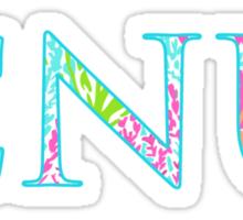 Christopher Newport University Letters (Let's Cha Cha Print) Sticker