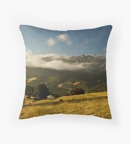 Mountain in the Mist Throw Pillow