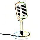 Pop Art Retro Microphone by Edward Fielding