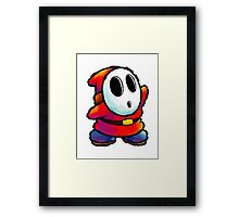 Red Shy Guy Framed Print