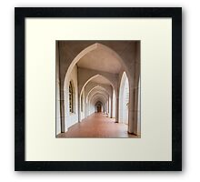 Arches to Door in Black and White Framed Print