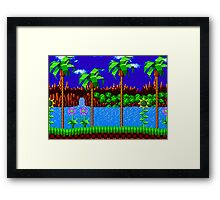 Green Hill Zone Framed Print