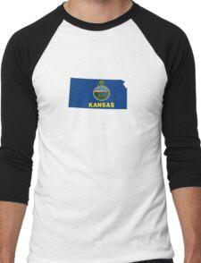 kansas state flag Men's Baseball ¾ T-Shirt