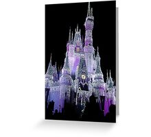 The Castle In Purple....  Greeting Card