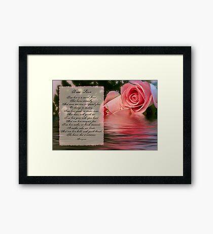 True Love Framed Print