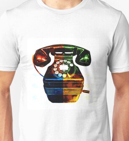 Pop Art Vintage Telephone 4 Unisex T-Shirt