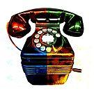 Pop Art Vintage Telephone 4 by Edward Fielding