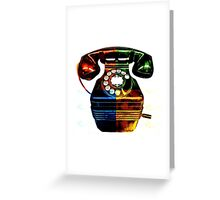 Pop Art Vintage Telephone 4 Greeting Card