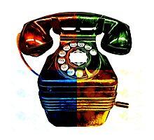 Pop Art Vintage Telephone 4 Photographic Print