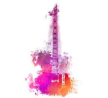 Purple Acoustic guitar Photographic Print