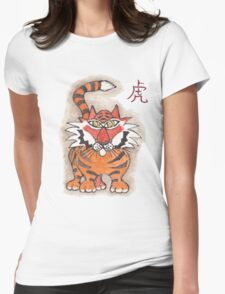 Chinese tiger Womens Fitted T-Shirt