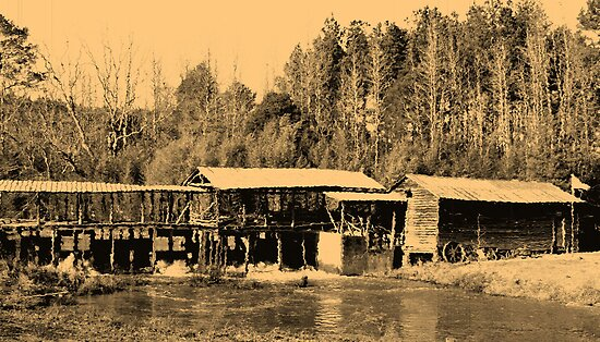 Sepia Sciple's Mill by Ginger  Barritt