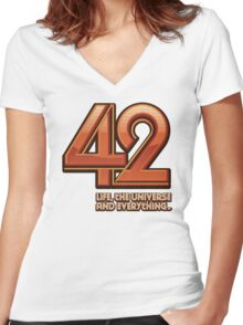 Forty-Two Women's Fitted V-Neck T-Shirt
