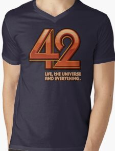 Forty-Two Mens V-Neck T-Shirt