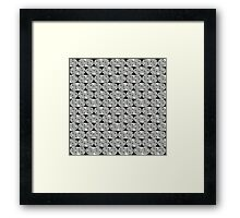 Beads - gray Framed Print