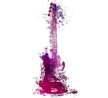 Funky purple guitar Photographic Print