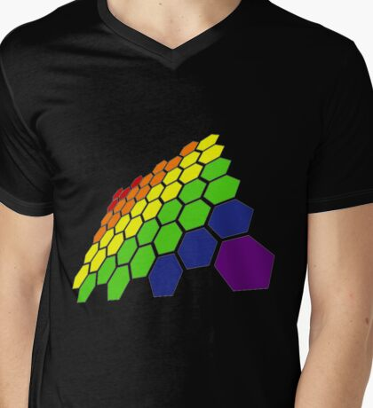 Pride Flag Mens V-Neck T-Shirt