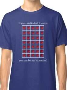 A Valentine Crossword T-Shirt Classic T-Shirt