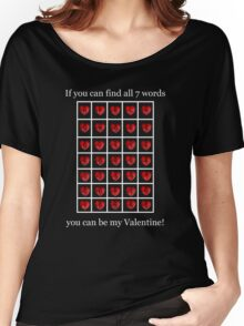 A Valentine Crossword T-Shirt Women's Relaxed Fit T-Shirt