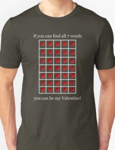 A Valentine Crossword T-Shirt Unisex T-Shirt