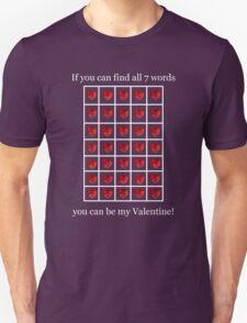 A Valentine Crossword T-Shirt Unisex T-Shirt