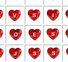 A Valentine Crossword T-Shirt Sticker