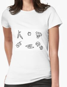 vegetables mushrooms Womens Fitted T-Shirt