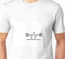 weightlifters exercise with dumb-bells weight lifting Unisex T-Shirt