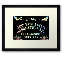 Pastel Rainbow Ouija Framed Print