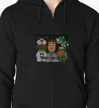 YOU CANNOT BEAT US Zipped Hoodie