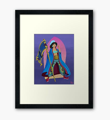 Princesses of Wrestling: Jasmine the Iron Sheikha Framed Print