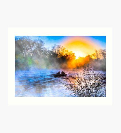 Fishing On The Flint River At Dawn - Georgia Landscapes Art Print
