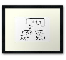 basic schoolteacher teacher trains Framed Print