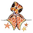 Baby Brown Sea Turtle Starfish by offleashart