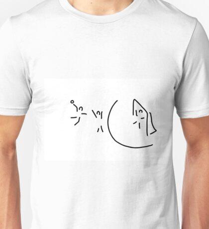 handball circle throw handball player Unisex T-Shirt