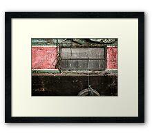 Narrow Boat Framed Print